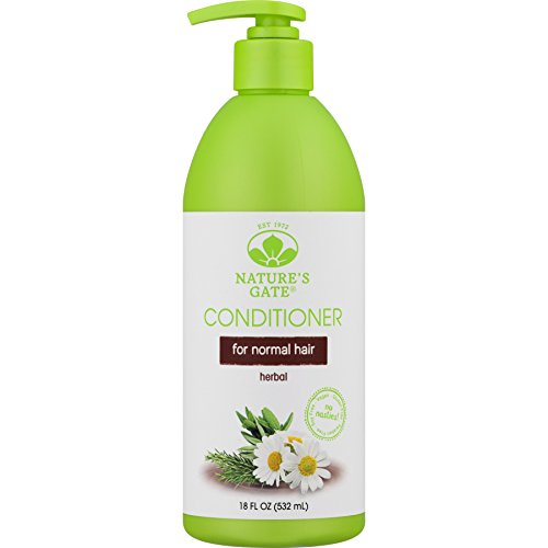 Nature's Gate Herbal Conditioner for All Hair Types, (18 fl oz) (532 ml) (Pack of 3) Natures Gate Chamomile
