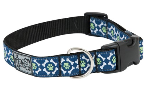 RC Pet Products 1-Inch Adjustable Clip Collar, Large, Pawprint