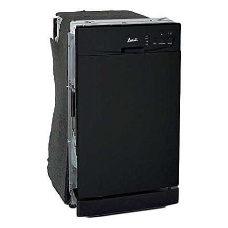 "Avanti DW18D1BE Built In Dishwasher, 18"", Black"