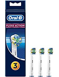 Oral-B Floss Action Electric Toothbrush Replacement Brush Heads Refill, 3 Count
