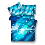 zhENfu 3D Reactive Purple And Blue Bedding Sets 4 Pcs for Queen Size Contain 1 Duvet Cover 1 Bedsheet 2 Pillowcases from China,Twin,Blue+Light Blue
