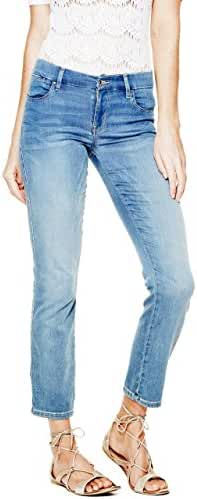 GUESS Mid-Rise Pencil Skinny Jeans in Vista Wash