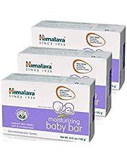 Himalaya Moisturizing Baby Bar, Mild and Moisturizing Bar Soap for Baby, 4.41 oz, 3 Pack