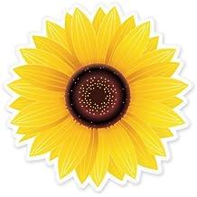 Sunflower Vinyl Sticker - Car Phone Helmet - SELECT SIZE