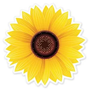 Amazon Com Sunflower Vinyl Sticker Car Window Bumper