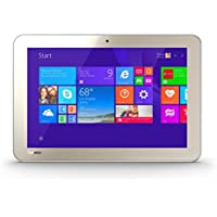 Toshiba Encore 2 10-Inch Touchscreen Wi-Fi Wireless Tablet with Intel Atom Quad-Core Processor (1.83GHz), 1GB RAM, 32GB Storage Memory & Windows 8.1, Matte Satin Gold, WT10A (Certified Refurbished)