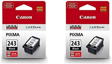 Canon 2 Pack PG-243 Black Ink Cartridge for PIXMA Printers - 5.6ml