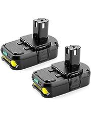 2 stycken Energup 18 V 2,5 Ah batteriersättning för Ryobi ONE+ P108 P104 P105 P102 P103 P107 18 V verktyg