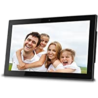 Sungale 19-inch WiFi Cloud Digital Photo Frame w/ Built-in Front Camera for Video Talk, Remote Control, 10GB Free Cloud Storage, 1366768px 16:9 LED Display (Black)