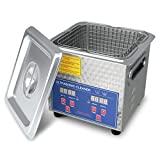 Ultrasonic Cleaner Heated Parts Cleaner 2L for Carburetors Injectors Guns Bullets and Brass Professional Ultrasonic Bath Stainless Steel with Cleaning Basket DAREFLOW