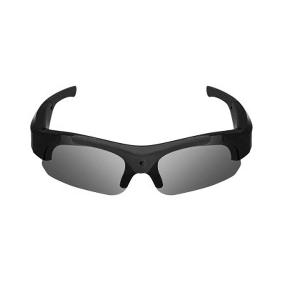 APJJ Modische Sonnenbrille Digitale intelligente Brille mit High-Definition-Kamera,schwarz