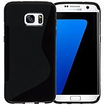 MOONCASE Galaxy S7 Edge Case, S-Line Soft Gel TPU Case Cover for Samsung Galaxy S7 Edge Anti-Slip Flexible Silicone Protective Case Black