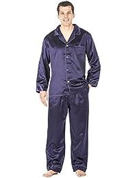 Mens Premium Satin Pajama Sleepwear Set