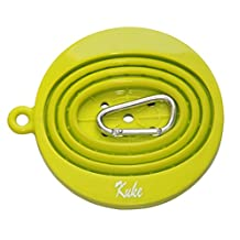 Kuke Reusable Silicone Coffee Dripper with Hook,Collapsible Coffee Filter Holder, Food Grade Tea Filter Cone (Green)