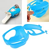 POPETPOP Racing Pigeon Holder - Thickened Carrier Supportor Creative Mounting Bracker Fixed Feeder Rack for Birds Pigeon (Blue)