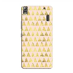 Cover It Up - Gold Pink Triangle Tile A7000 / K3 Note Hard Case