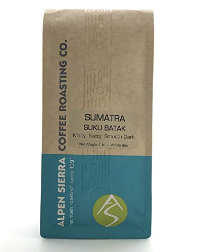 Sumatra Coffee Beans, Dark Roast, 16 ounces, Single Origin, Suku Batak Lintong...