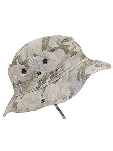 Mega Cap MG Camouflage Ripstop Floppy/Bucket Summer Hat W/Snap Up Sides & Chin Strap - Desert Camo Extra Large]()