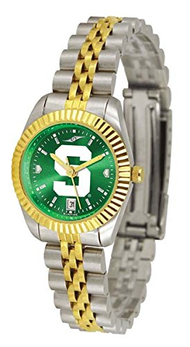 Michigan State University Ladies Gold Dress Watch