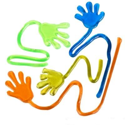 Neliblu Sticky Fingers, Fun Toys, Party Favors, Wacky Fun Stretchy Glitter Sticky Hands, Party Favors, Birthday Parties, Toys for Sensory Kids, 24 Piece -