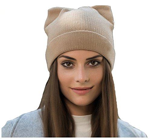 Hat Crochet Free (wanture Women's Hat Cat Ear Crochet Braided Knit Caps Khaki Free)