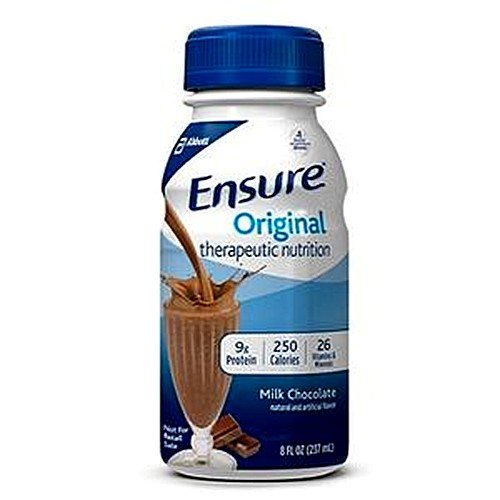 Ensure Original Therapeutic Nutrition Shakes, Milk Chocolate, 8-fl-oz (237-mL) Bottles – 1/Case of 24-Bottles For Sale