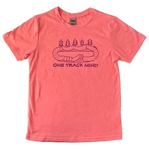 ZippyRooz Toddler & Kids BMX Bike Tee Shirt One Track Mind for Youth Girls (Flamingo, M ()