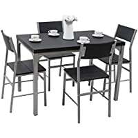 Tangkula Dining Table Set 5 PCS Modern Kitchen Dining...