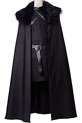 Cosplaysky Game of Thrones Jon Snow Costume Night's Watch Outfit