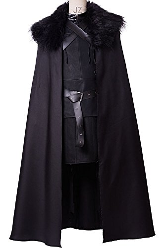 [CosplaySky Game of Thrones Jon Snow Costume Night's Watch Outfit Small] (Man Of The Nights Watch Costume)