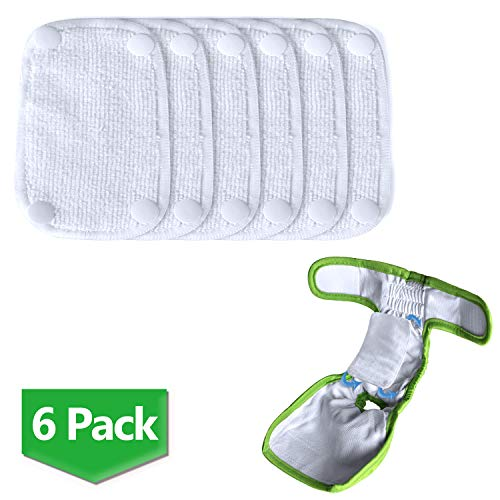Teamoy Female Dog Diaper Pads, Reusable Doggie Diaper Wraps Liner Pads(Pack of 6), S