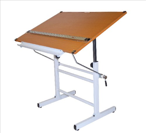 Drafting Table Surface (Marin Bel Aire Nuevo Drafting Table, White Base with Cherrywood Top, 30-Inch by 42-Inch Surface)