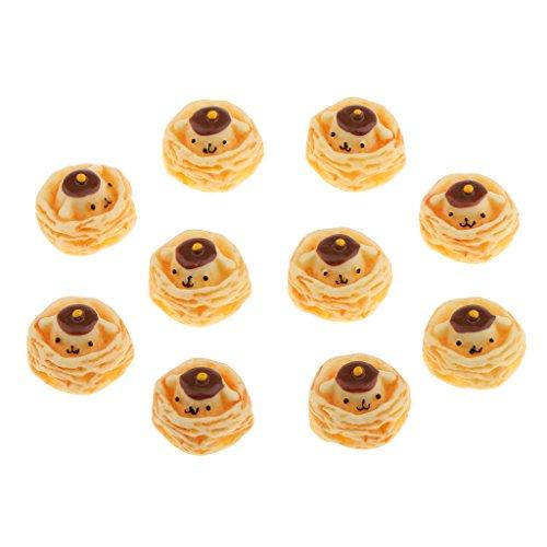 MonkeyJack 12th Dolls House Miniatures Bear Egg Tart Bakery Kitchen Decorative Food 10pcs from MonkeyJack