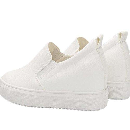 XIE Señora Zapatos Aumento Interno Ocio Pequeños Zapatos Blancos Movimiento Permeabilidad Cómodo Estudiantes Tres Colores, White, 35 WHITE-38