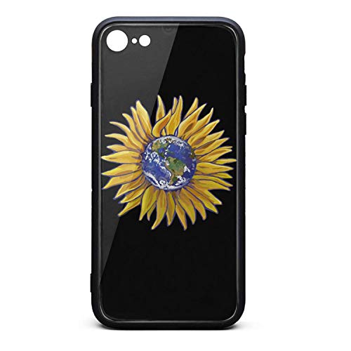 - BoDu iPhone 7 case iPhone 8 Case Flat Happy Earth Day Sunflower TPU Protective Shockproof Back Cover for iPhone 7 iPhone 8
