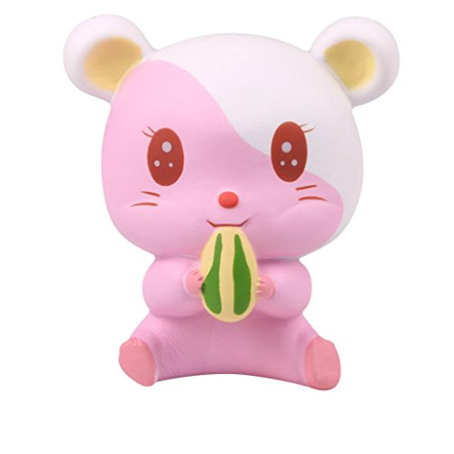 Waymine Kawaii Jumbo Adorable Hamster Scented Slow Rising Collection Squeeze Stress Reliever Toy Gift for Kids and Adults