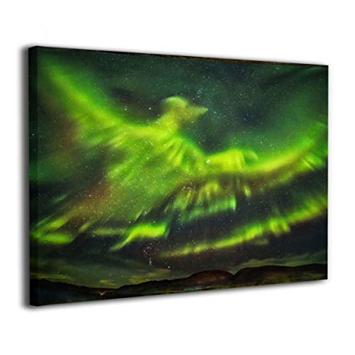 Henry Huxley Wall Art Decor Painting On Canvas Print, Intense Aurora Stretched and Frameless,for Kitchen Living Room Bedroom Decoration Home Office Wall Posters 16x20 Inch -