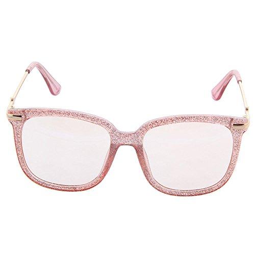 ogobvck lunettes claire surdimensionnées Rose haute eve grandes la de section couture lentille ZXSrwqZa
