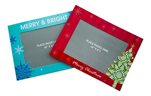 Christmas Cards Photo Holder Sleeve - Holiday - 4x6 Photo Insert Xmas Greeting Cards Pack of 12 Cards (Fun)