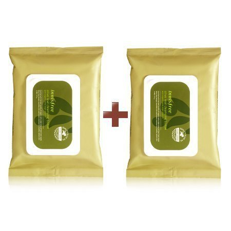 (Innisfree Olive Real Cleansing Tissue (Pack of 2 / 60 Sheets) )