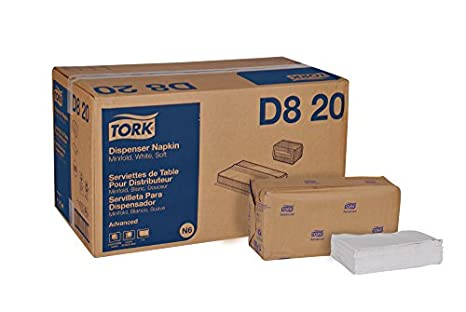 "Tork Advanced Soft D820 Minifold Dispenser Napkin, 1-Ply, 13"" Width x"