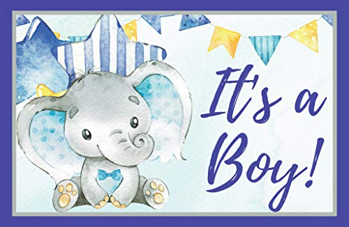 - Its a Boy Elephant Baby Shower, Gender Reveal, Welcome Baby Home 11 x 17 Poster, Baby Shower Decorations, Supplies, Banner, Hospital Door Decor- Blue & Gray