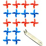 EUDAX 4 Sets 4-blade FPV Propeller Red / Blue CW CCW Props for Tiny Whoop Inductrix H36 E010 RC Micro Quadcopter