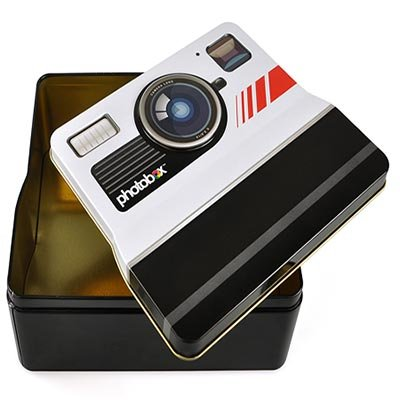Tin Collectible Decorative Container - BuyGifts Vintage Camera Shaped Tin Container for Photos, Collectibles or Keepsakes