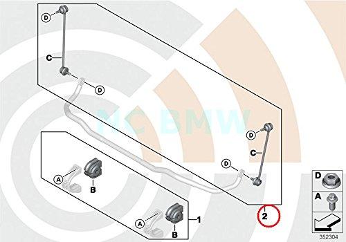 Genuine BMW X3 E83 Sway Anti-Roll Bar Links Repair Kit OEM ()