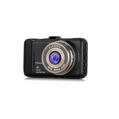 Dash Cam,Hliwoynes 3.0 Screen,170 Degree Wide Angle,Full HD 1080P, Car dashboard Camera, Vehicle On-dash Video Recorder Camcorder with G-Sensor, Loop Recording,Night Vision (Black)