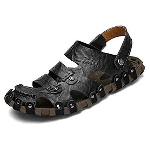 十分ですスリルクラウン[タレークス] Talerk メンズサンダル スポーツサンダル ビーチサンダル アウトドア メンズ靴 本革 通気 2ways