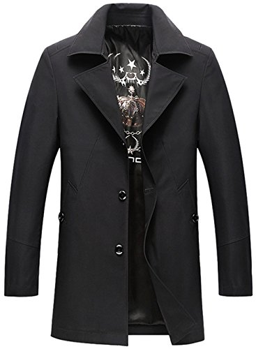 Haute Homme Business Fashion Windbreaker Big Manteau Mode Casual Jackets Noir Long Qualité Mens Ws668 1TqICwI