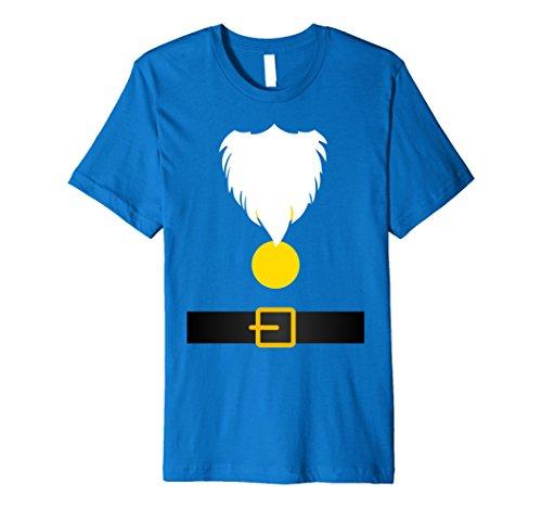 Mens Funny Dwarf Costume T-Shirt for Halloween or Christmas 2XL Royal Blue