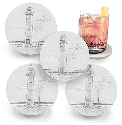 Lighthouse, Absorbent, Light Beige 4.25 inch (4pc)